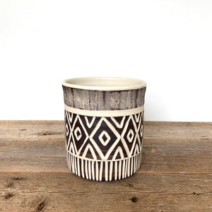AFRICA MODERN UTENSIL HOLDER IN MUDCLOTH B
