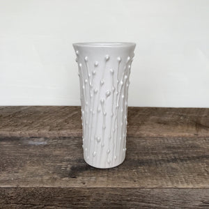 Handcrafted White Ceramic Vases