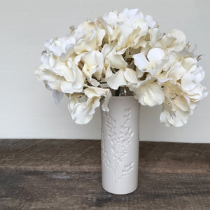 IVORY TINA VASE IN CARVED BRANCHES