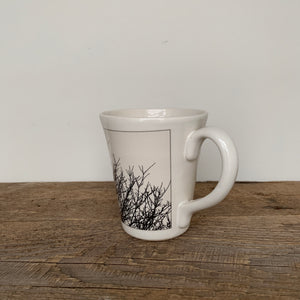 WHITE IMAGE MUG 16 OUNCES WITH BIRD