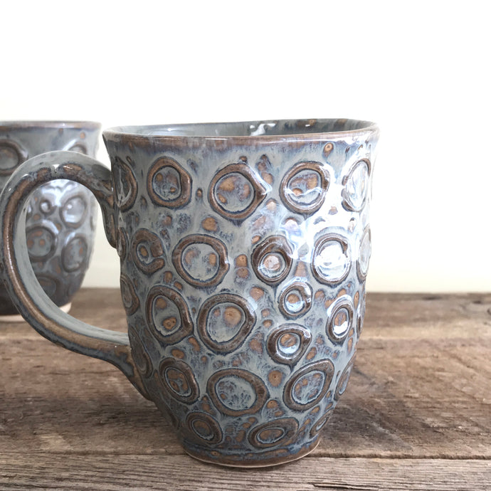 SLATE MUG WITH CIRCLES - 15 OUNCES