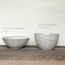 Load image into Gallery viewer, OATMEAL TALI SERVING BOWL IN WAVE
