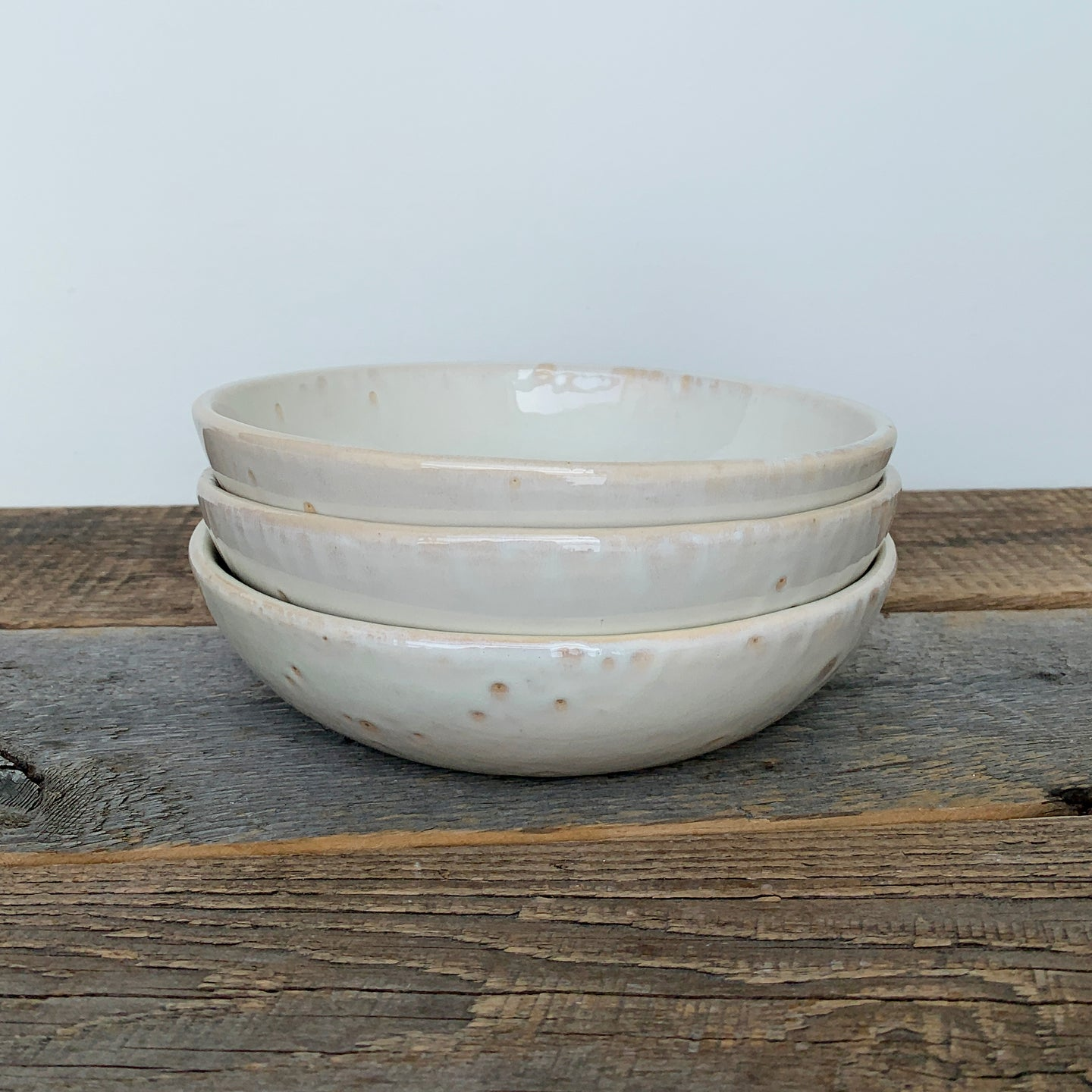 OATMEAL SHALLOW BOWLS - SMALL