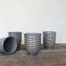 Load image into Gallery viewer, SLATE WINE CUPS WITH CARVED WAVES