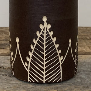 VASE - PLANT POT IN HENNA PATTERN