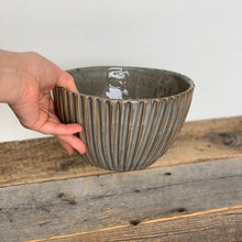 Load image into Gallery viewer, SLATE TALI SERVING BOWL WITH STRIPES