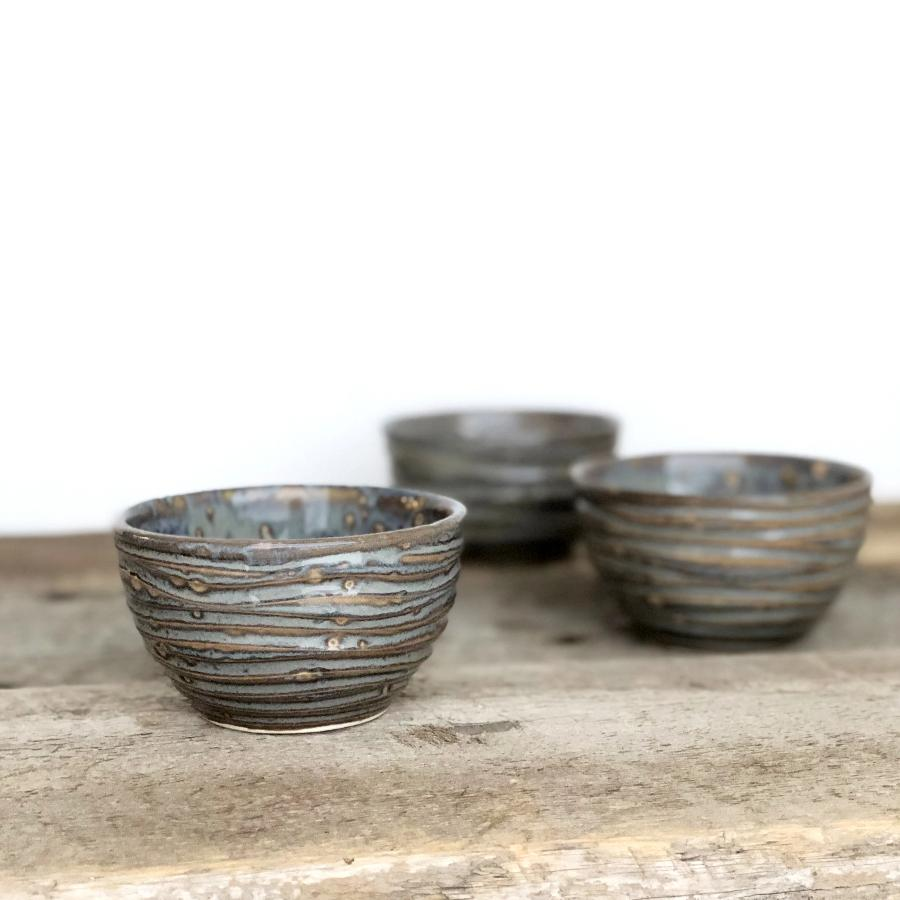 SLATE MEDIUM DIP BOWL SET OF 3