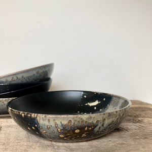 MIDNIGHT SHALLOW BOWLS SET OF 4