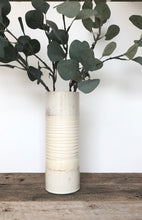 Load image into Gallery viewer, IVORY CYLINDER VASE IN TWO TONE