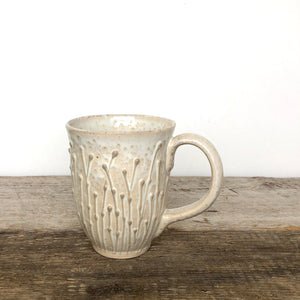 OATMEAL MUG IN PUSSY WILLOW - 15 OUNCES
