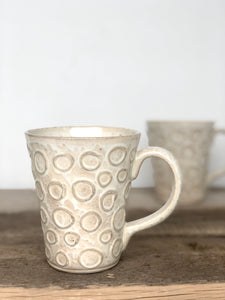 OATMEAL MUG IN CIRCLES - 16 OUNCES