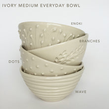Load image into Gallery viewer, IVORY MEDIUM EVERYDAY BOWL WITH BRANCHES