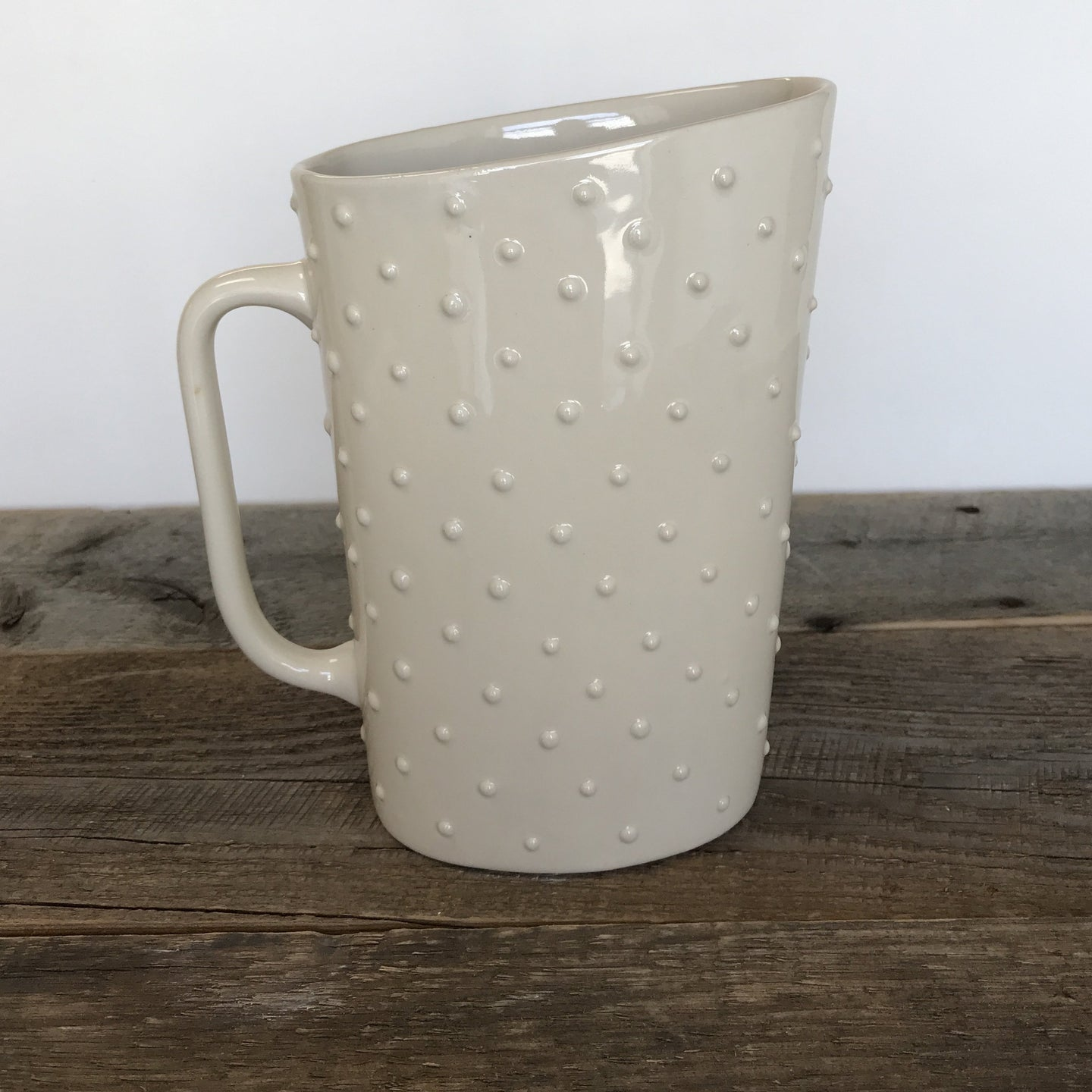 IVORY MILK BAG HOLDER IN WITH DOTS