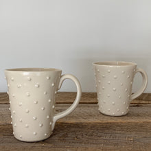 Load image into Gallery viewer, IVORY MUG WITH DOTS - 16 OUNCES