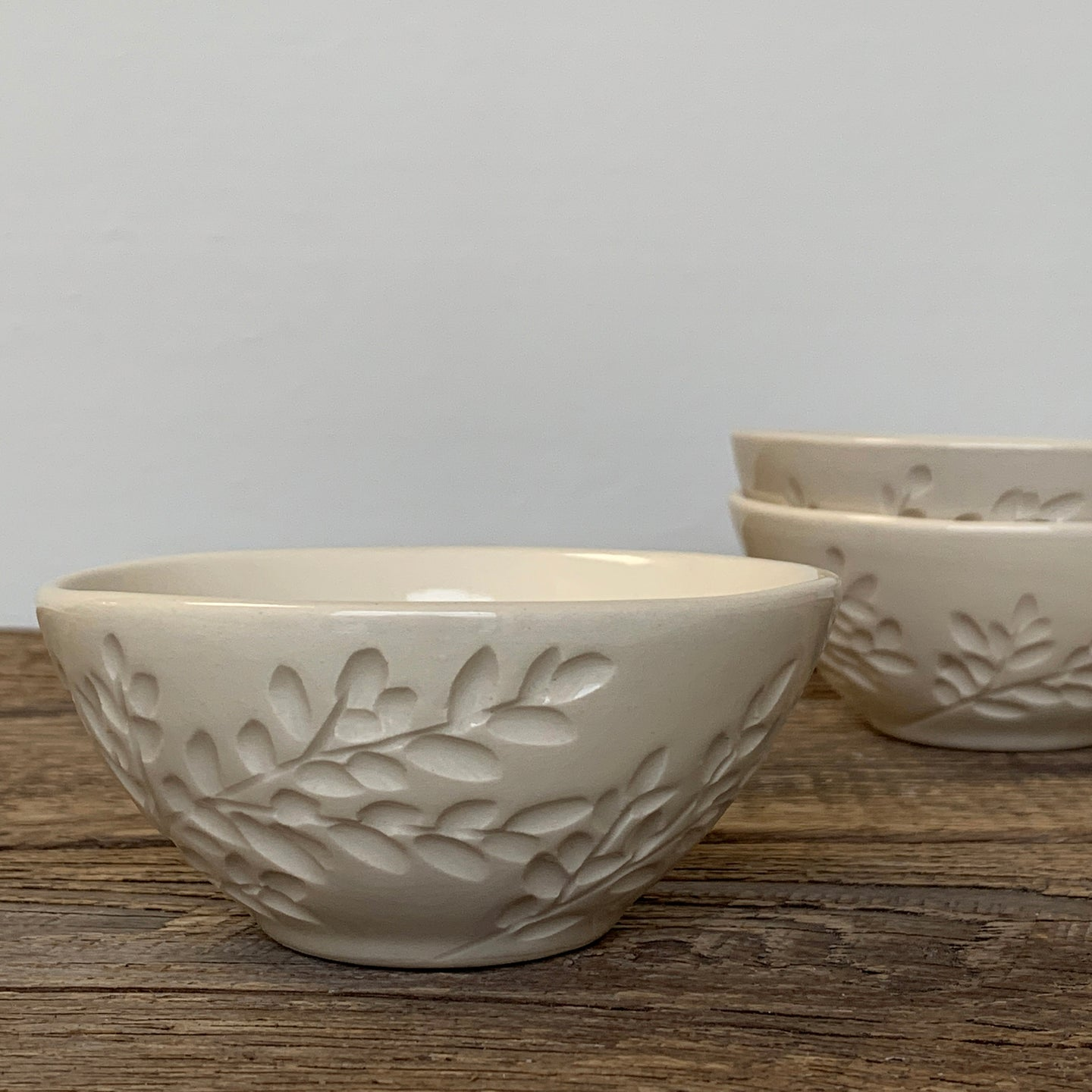 IVORY SMALL EVERYDAY BOWLS WITH BRANCHES