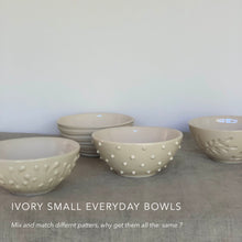 Load image into Gallery viewer, IVORY SMALL EVERYDAY BOWLS IN WAVE