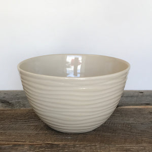 IVORY TALI SERVING BOWL IN WAVE