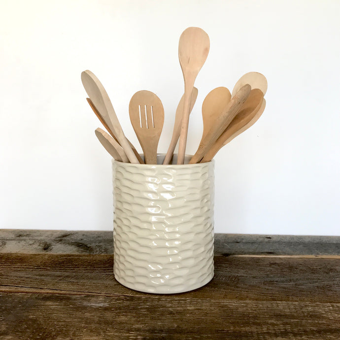 IVORY UTENSIL HOLDER IN CORAL