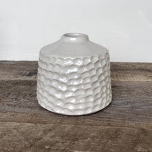 "Load image into Gallery viewer, IVORY TOBI VASE IN CORAL (5"" tall, opening 1.5"")"