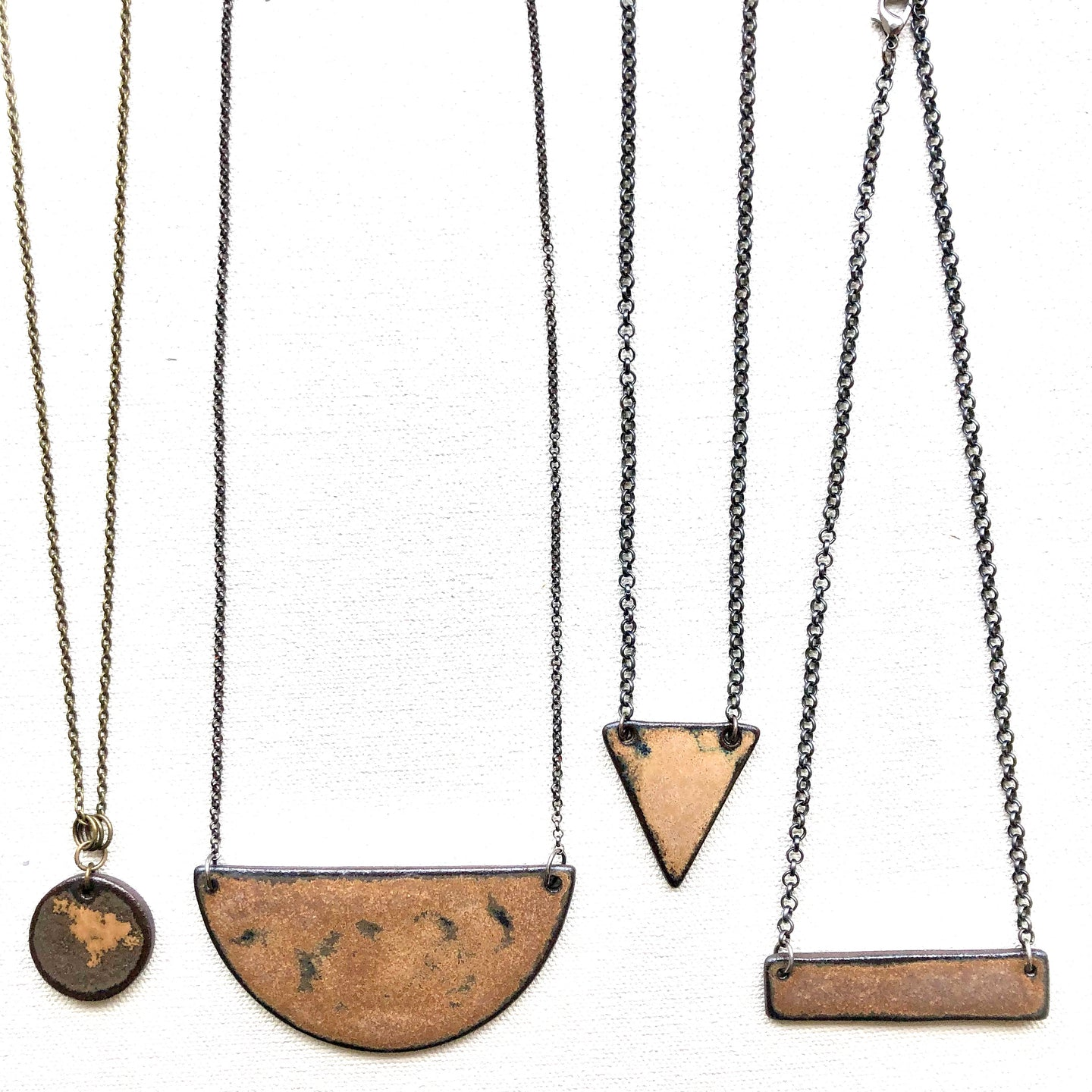 LEATHER GROUPING OF JEWELLERY