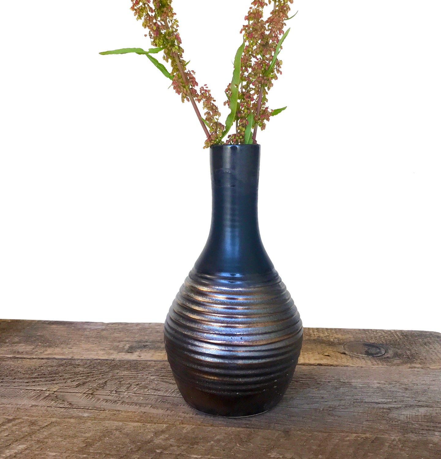 METALLIC BELLY VASE