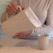 Load image into Gallery viewer, IVORY MILK BAG HOLDER IN WITH DOTS