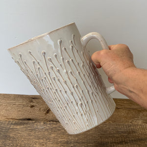 OATMEAL MILK BAG HOLDER WITH PUSSY WILLOWS