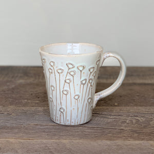 OATMEAL MUG WITH POPPIES - 16 OUNCES