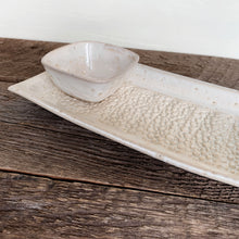 Load image into Gallery viewer, OATMEAL SMALL SKINNY SERVING PLATTER SET IN PEBBLE