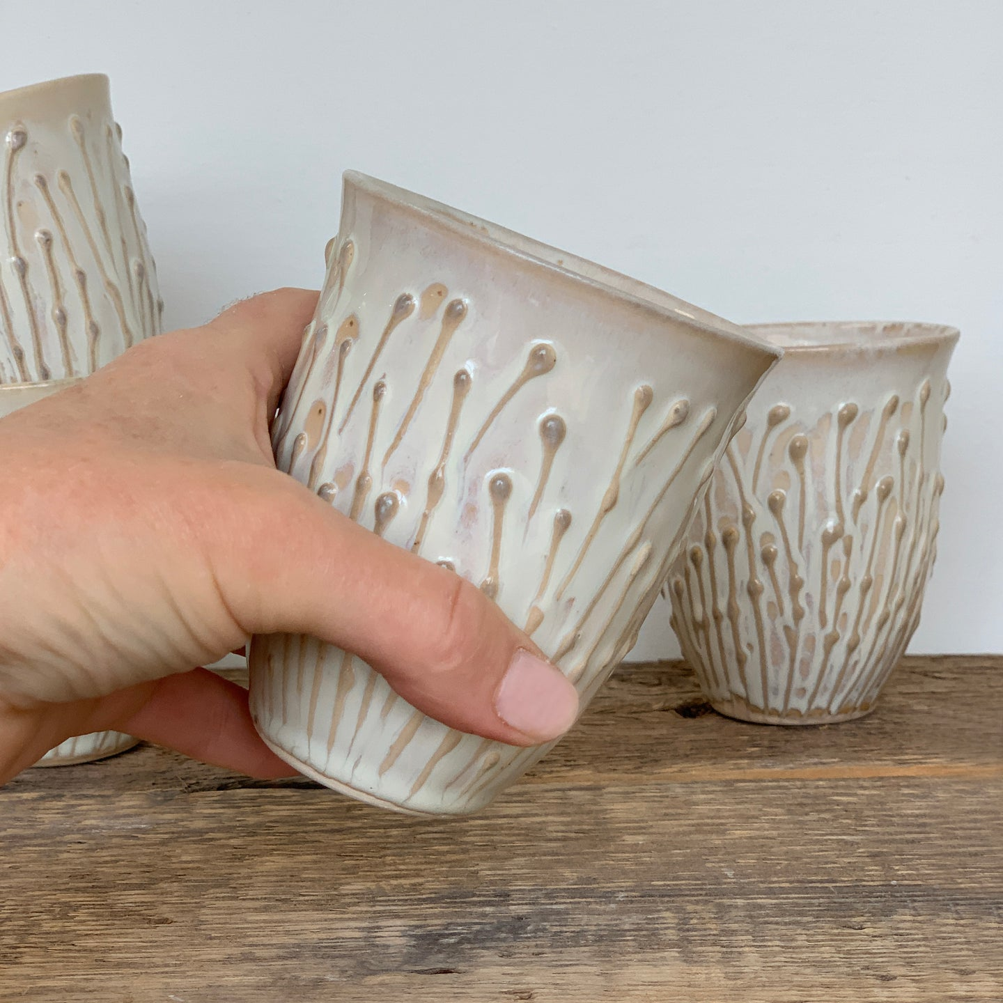 OATMEAL WINE CUPS IN PUSSY WILLOW
