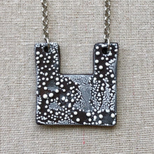Load image into Gallery viewer, Square Contemporary Black and White Necklace