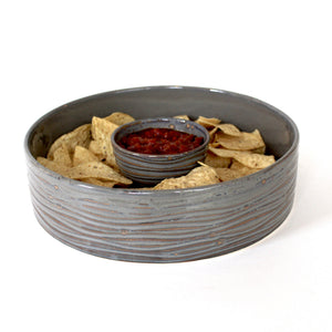 SLATE CYLINDER SERVING BOWL - LARGE