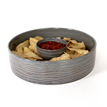 Load image into Gallery viewer, SLATE CYLINDER SERVING BOWL IN WAVE - MEDIUM
