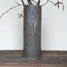 Load image into Gallery viewer, SLATE CYLINDER VASE WITH WOOD GRAIN