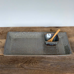 SLATE LARGE RECTANGLE PLATTER SET IN BAROQUE