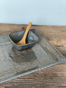 SLATE LARGE RECTANGLE PLATTER SET WITH WAVES