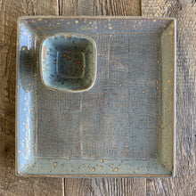 Load image into Gallery viewer, SLATE SMALL SQUARE PLATTER SET IN GINGHAM