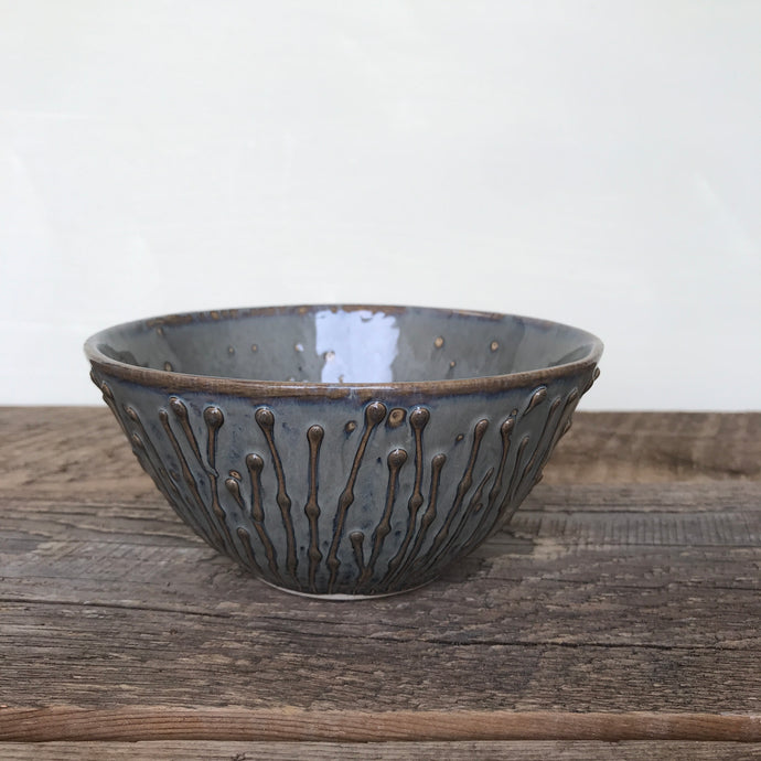 SLATE MEDIUM EVERYDAY BOWL WITH PUSSY WILLOWS (SET OF 2)