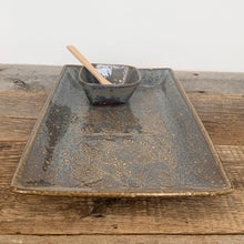 "Load image into Gallery viewer, SLATE MEDIUM RECTANGLE PLATTER SET WITH BRANCHES (7.5"" X 12.5)"