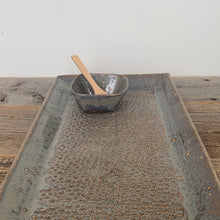 "Load image into Gallery viewer, SLATE MEDIUM RECTANGLE PLATTER SET WITH  PEBBLES (7.5"" X 12.5)"