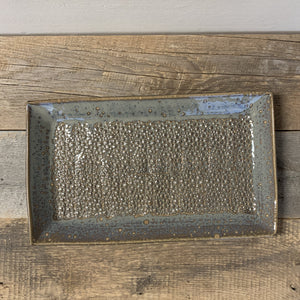 SLATE LARGE RECTANGLE PLATTER SET IN PEBBLE