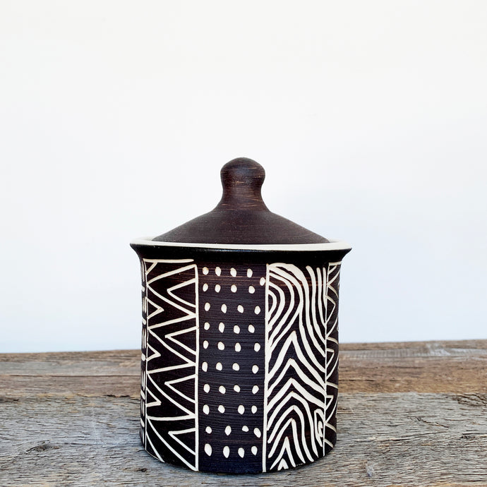 AFRICA MODERN MUD CLOTH CANNISTER
