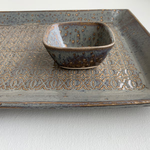SLATE EXTRA LARGE RECTANGLE PLATTER SET IN BAROQUE