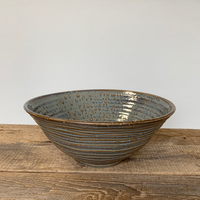 SLATE LARGE SALAD  BOWL WITH WAVES