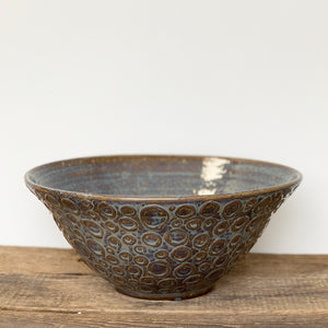 SLATE LARGE SALAD  BOWL WITH CIRCLES