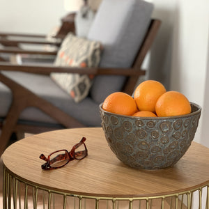 SLATE TALI SERVING BOWL WITH CIRCLES