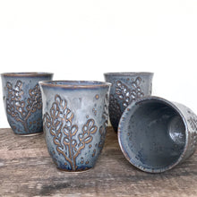 Load image into Gallery viewer, SLATE WINE CUPS WITH CARVED BRANCHES