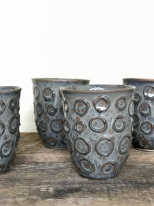 SLATE WINE CUPS WITH CIRCLES