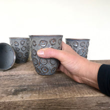 Load image into Gallery viewer, SLATE WINE CUPS WITH CIRCLES
