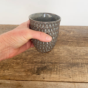 SLATE WINE CUPS WITH CARVED CORAL